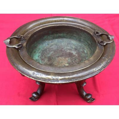Brasero En Bronze Et Laiton. Espagne Ou Pays Bas Fin XVIIIe - Début XIXe.
