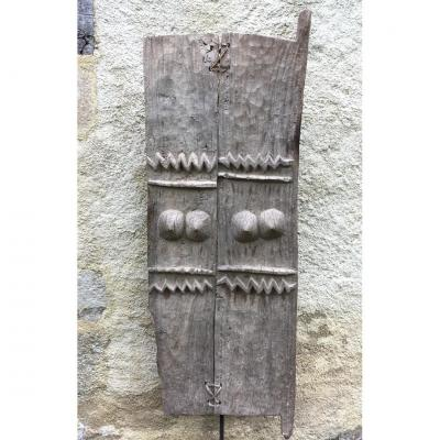 Large Door House, Hardwood With Gray Patina. Dogon, Mali. Mid 20th Century.