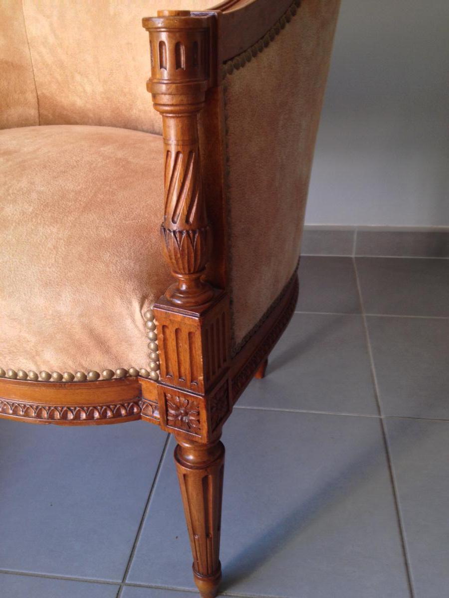 fauteuil de bureau louis xvi fauteuils. Black Bedroom Furniture Sets. Home Design Ideas