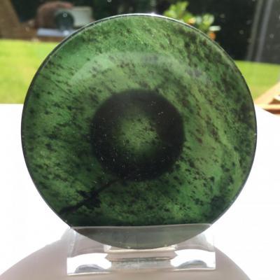 Petite Coupelle En Jade Vert Translucide,chine XIX ème Siècle