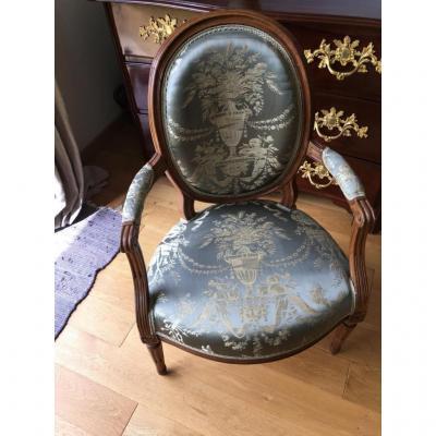Fauteuil Cabriolet Époque Louis XVI  XVIII ème Siècle