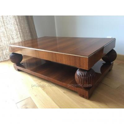 """Table Basse De Salon Arts Déco """"apparentée A Ruhlmann """""""