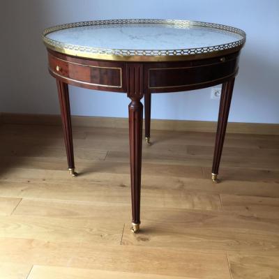 Rare Grande Table Bouillotte époque Ls XVI Avec Son Bouchon