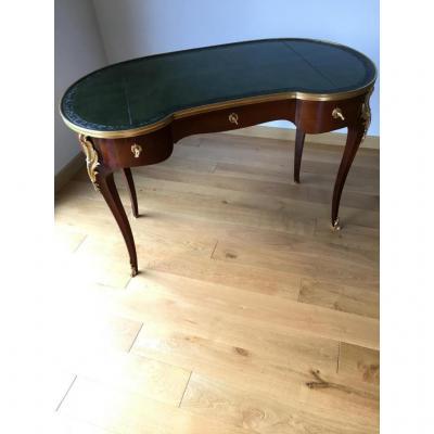 """Bureau Plat""""rognon""""style Ls XV Estampilléternisien & Dantant Paris Cica1875"""