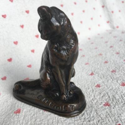 Bronze De Chat, Par ¨ E Fremiet ¨ XIX éme Siécle