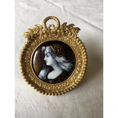 """Miniature Sur Cuivre émaillé """" Limoges """""""