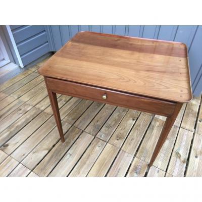 """Table """"cabaret"""" En Merisier époque Louis XVI 18ème Siècle"""