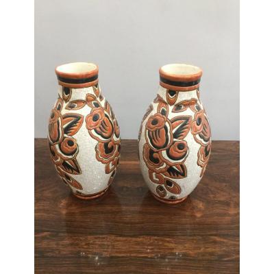Paire De Vase Art Deco