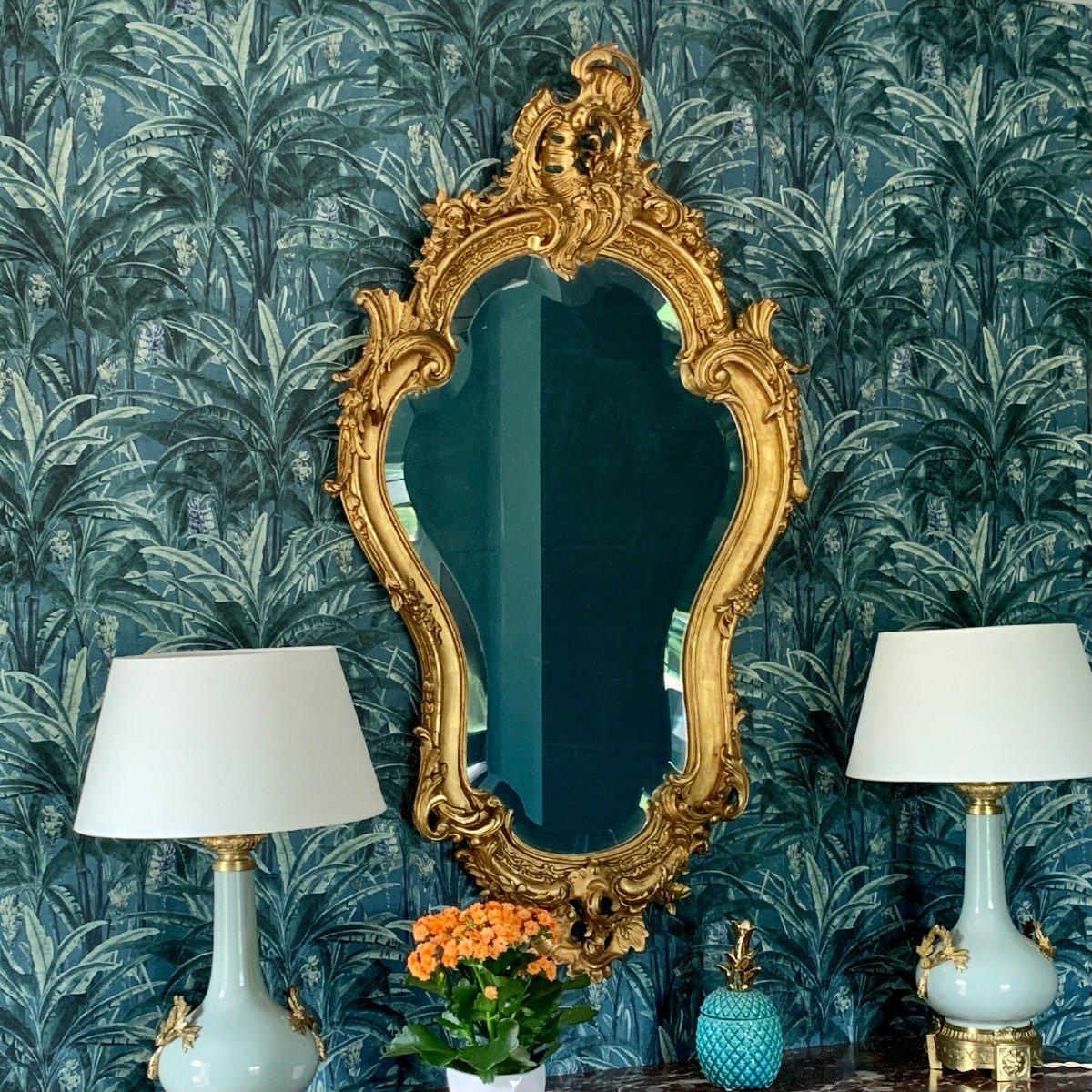 Miroir Style Louis XV - Rocaille - Epoque Napoléon III-photo-2