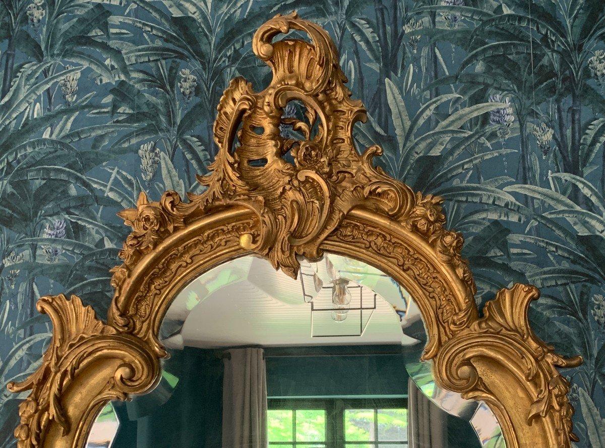 Miroir Style Louis XV - Rocaille - Epoque Napoléon III-photo-3