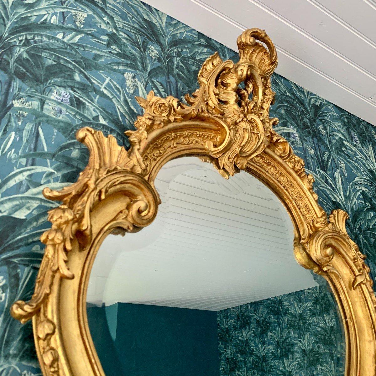 Miroir Style Louis XV - Rocaille - Epoque Napoléon III-photo-4