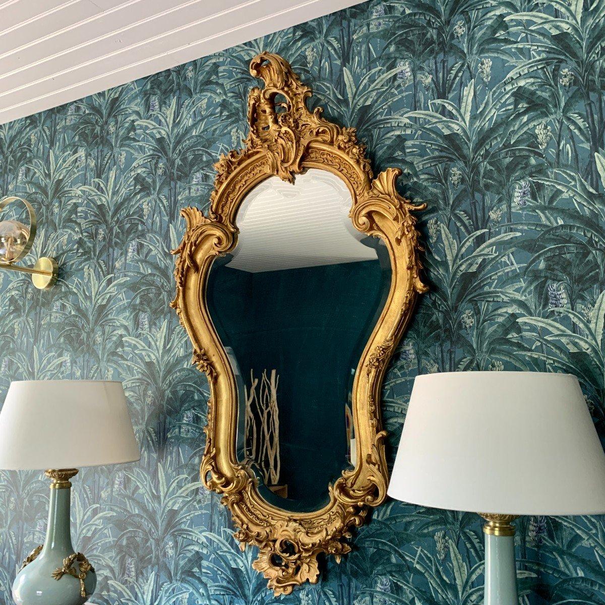 Miroir Style Louis XV - Rocaille - Epoque Napoléon III-photo-5