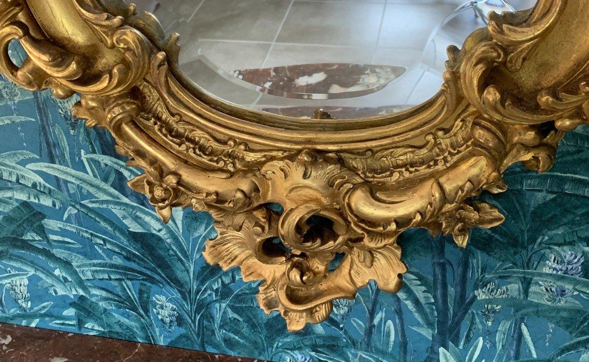 Miroir Style Louis XV - Rocaille - Epoque Napoléon III-photo-6