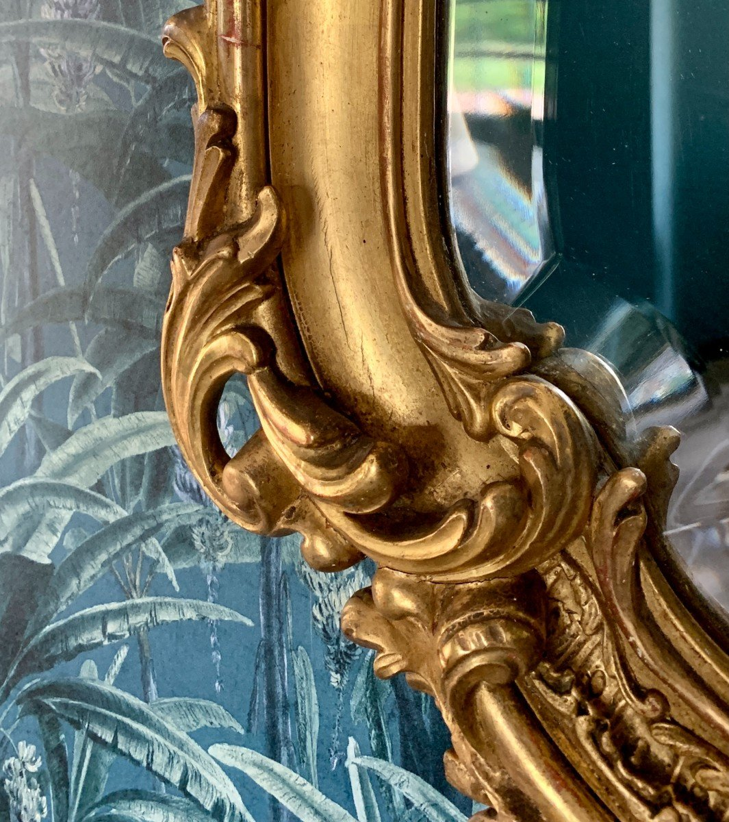Miroir Style Louis XV - Rocaille - Epoque Napoléon III-photo-7
