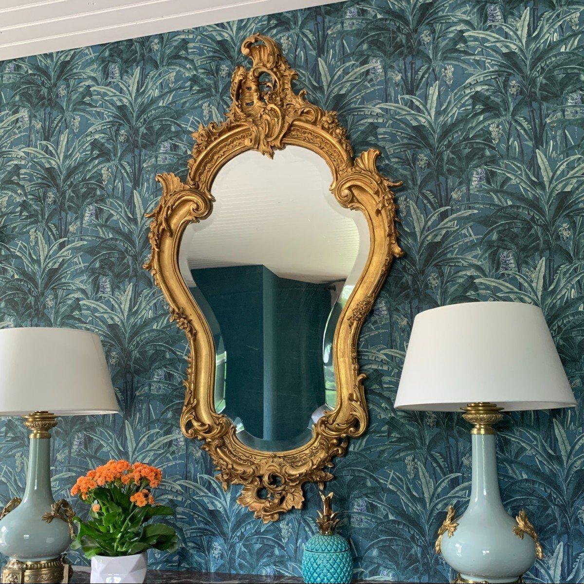 Miroir Style Louis XV - Rocaille - Epoque Napoléon III