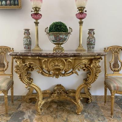 Golden Wood Console