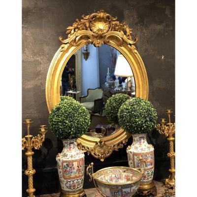 Miroir Ovale, XIXème Siècle