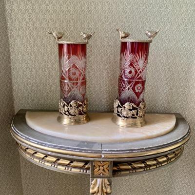 Pair Of XIXth Century Vases Roll