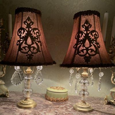 Paire De Lampes à Pampilles