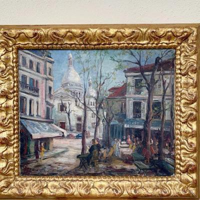 Oil Painting On Canvas Twentieth Century