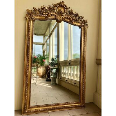 Miroir Bois Doré, époque Napoléon III, XIXème Siècle