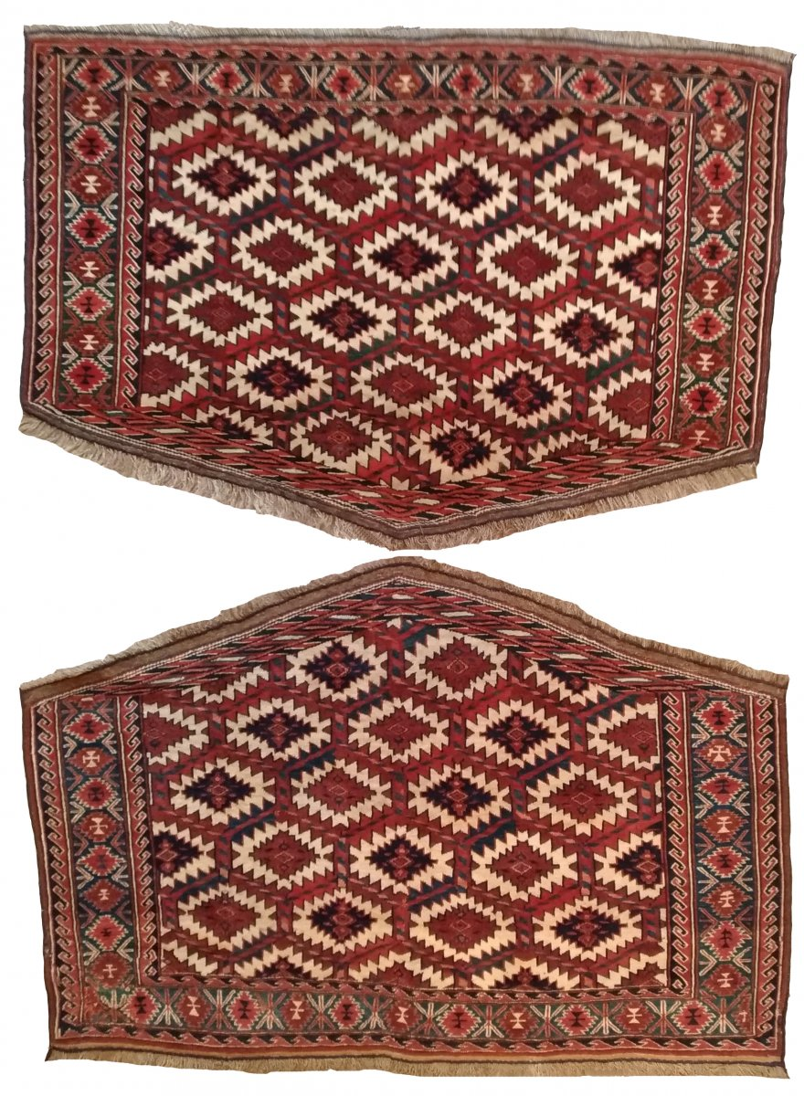 644 - Pair Of Turkmen Carpets (asmalik)
