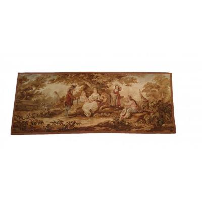 19th Century Brussels Handwoven Tapestry
