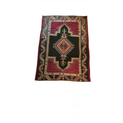 696 - Exceptional Kilim From Turkey In Wool  19th Century 78.74 In. X 55.11 In.