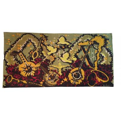 773 - Modern Tapestry From M.c.bertrand, 20th Century