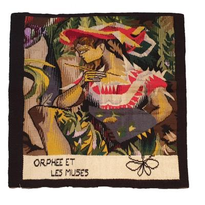 """Modern Tapestry """"orphee And The Muses"""" 20th Century"""