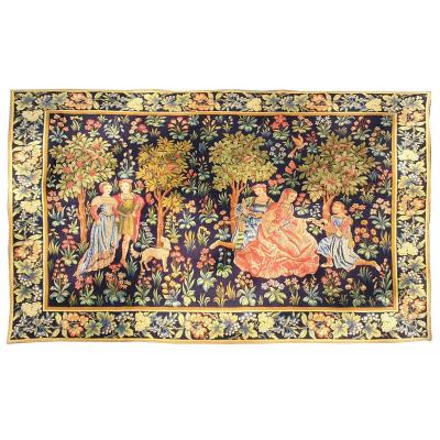 Aubusson Mechanical Tapestry From The 19th Century