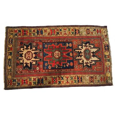 636 - Russian Lesghi Rug, Wool 19th Century 150 Cm X 90 Cm