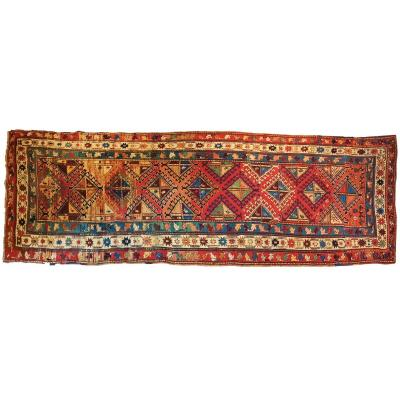 837 - Caucasian Carpet 19th Century 350 X 125 Cm