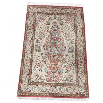 867 -carpet Ghoum Iran Hand Knotted Silk