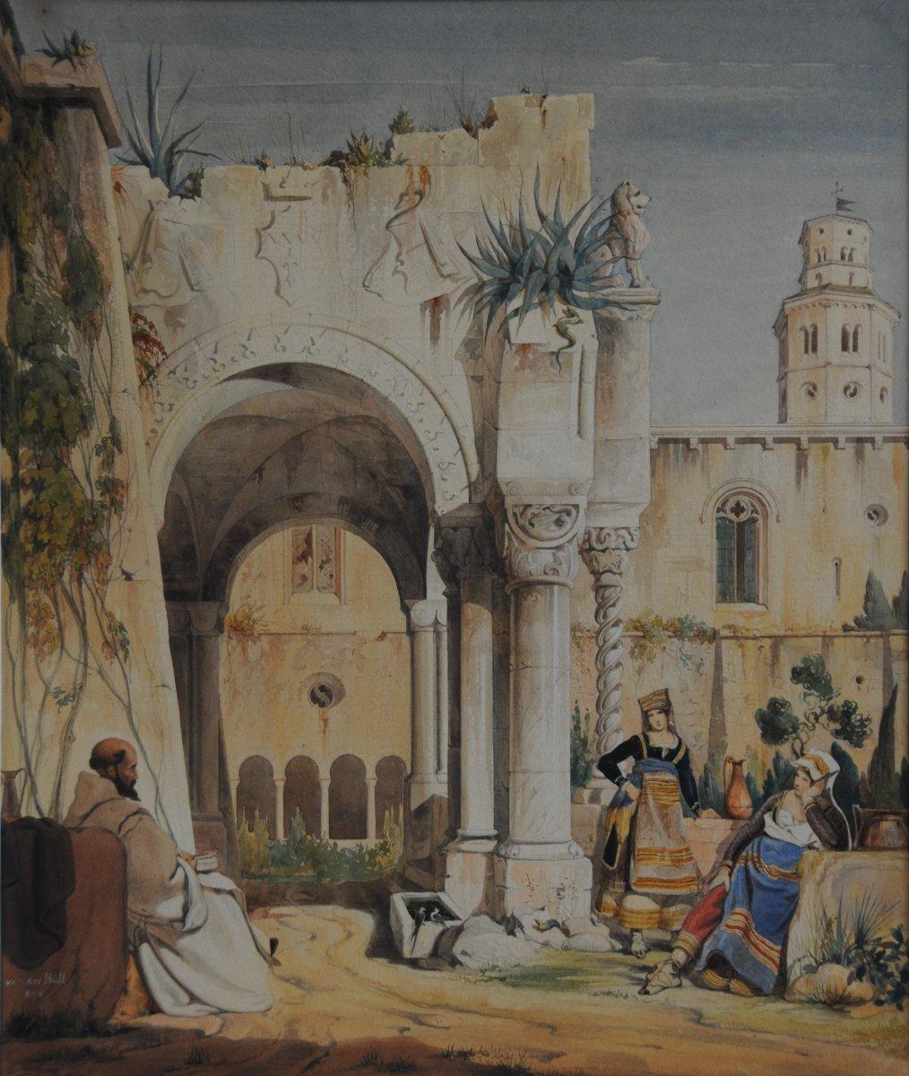 Jeunes Italiennes Dans Un Monastere