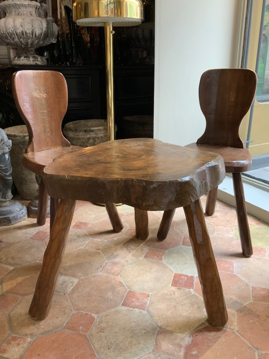 Set Primitif Table Et Chaises