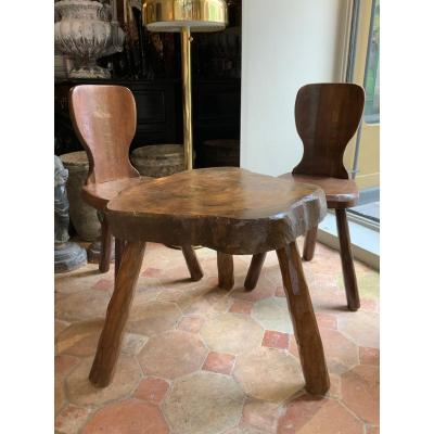 Primitive Set Table And Chairs