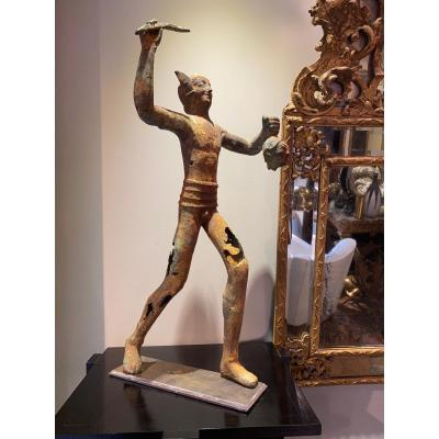 Iron Statue Of Perseus 19th