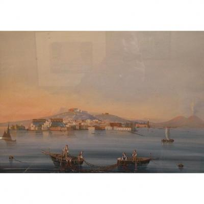 """vesuvius And The Bay Of Naples"""