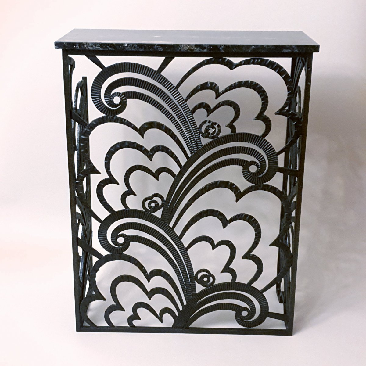 Art Deco Console Radiator Cover Wrought Iron Signed P Kiss Consoles