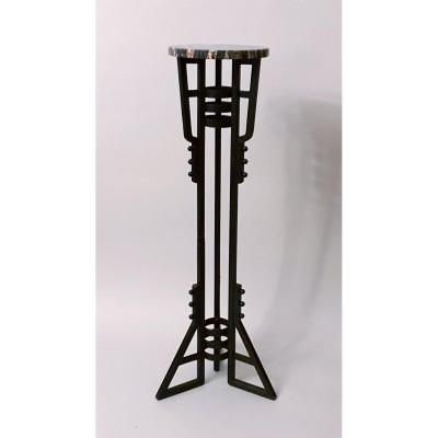 French Art Deco Wrought Iron Stand