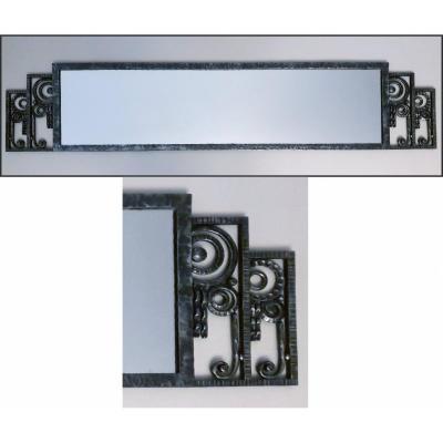 Art Deco Raymond Subes Wrought Iron Mirror
