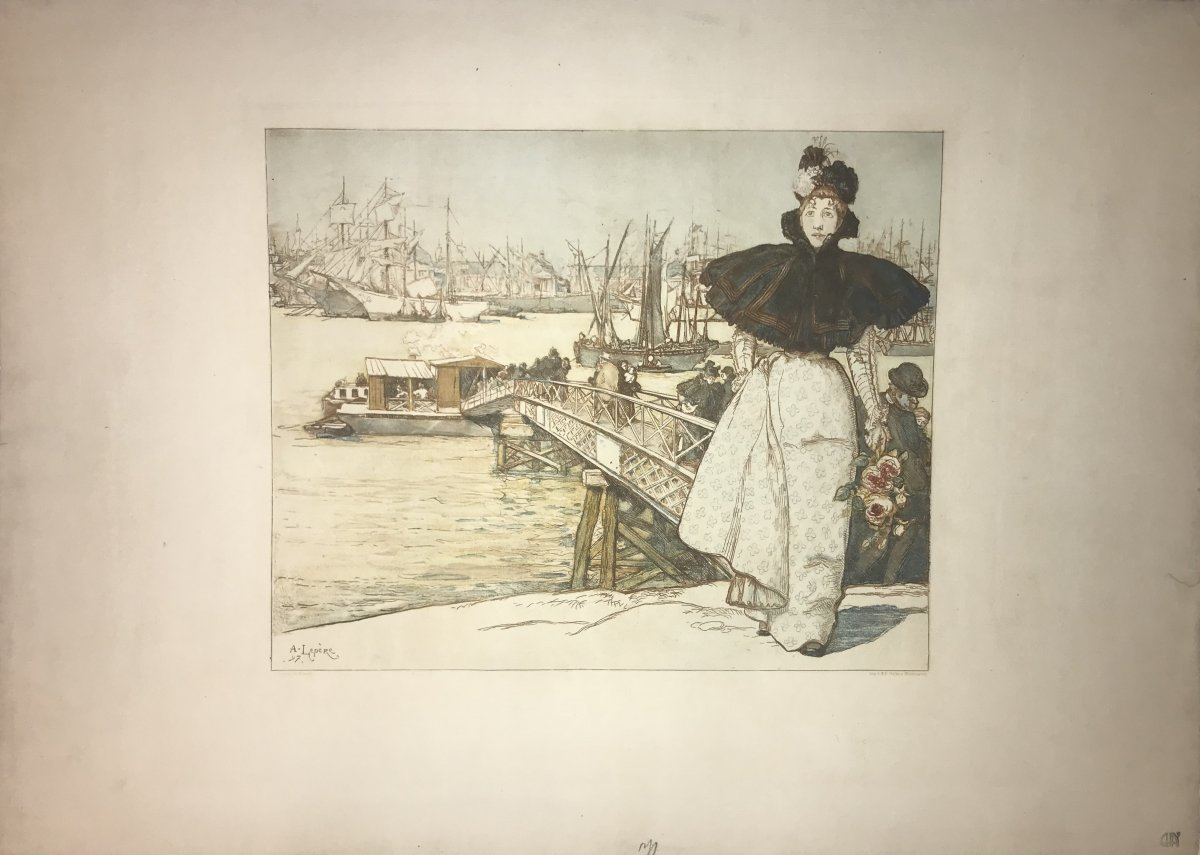 Louis-auguste Lepere : Embarcadere Sur La Garonne, Bordeaux -photo-2