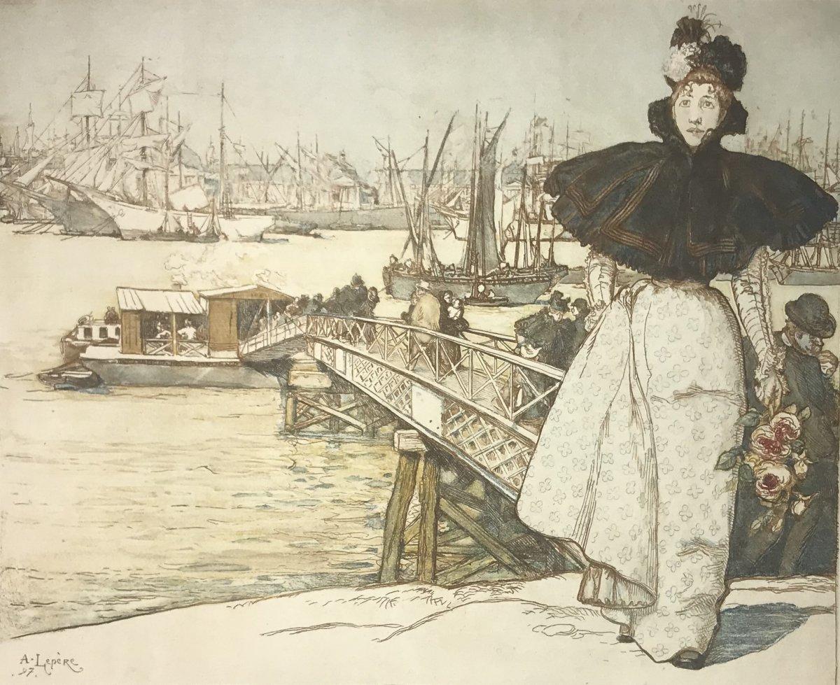 Louis-auguste Lepere : Embarcadere Sur La Garonne, Bordeaux