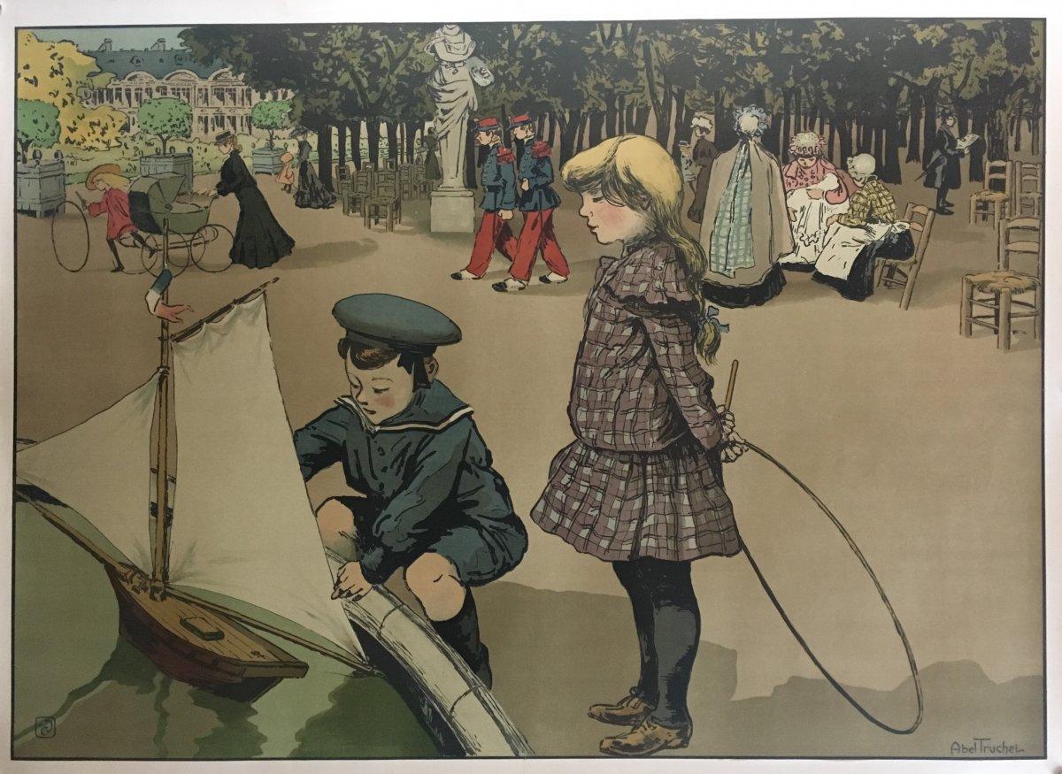 Louis Abel-truchet : Jeux d'enfants au jardin du Luxembourg