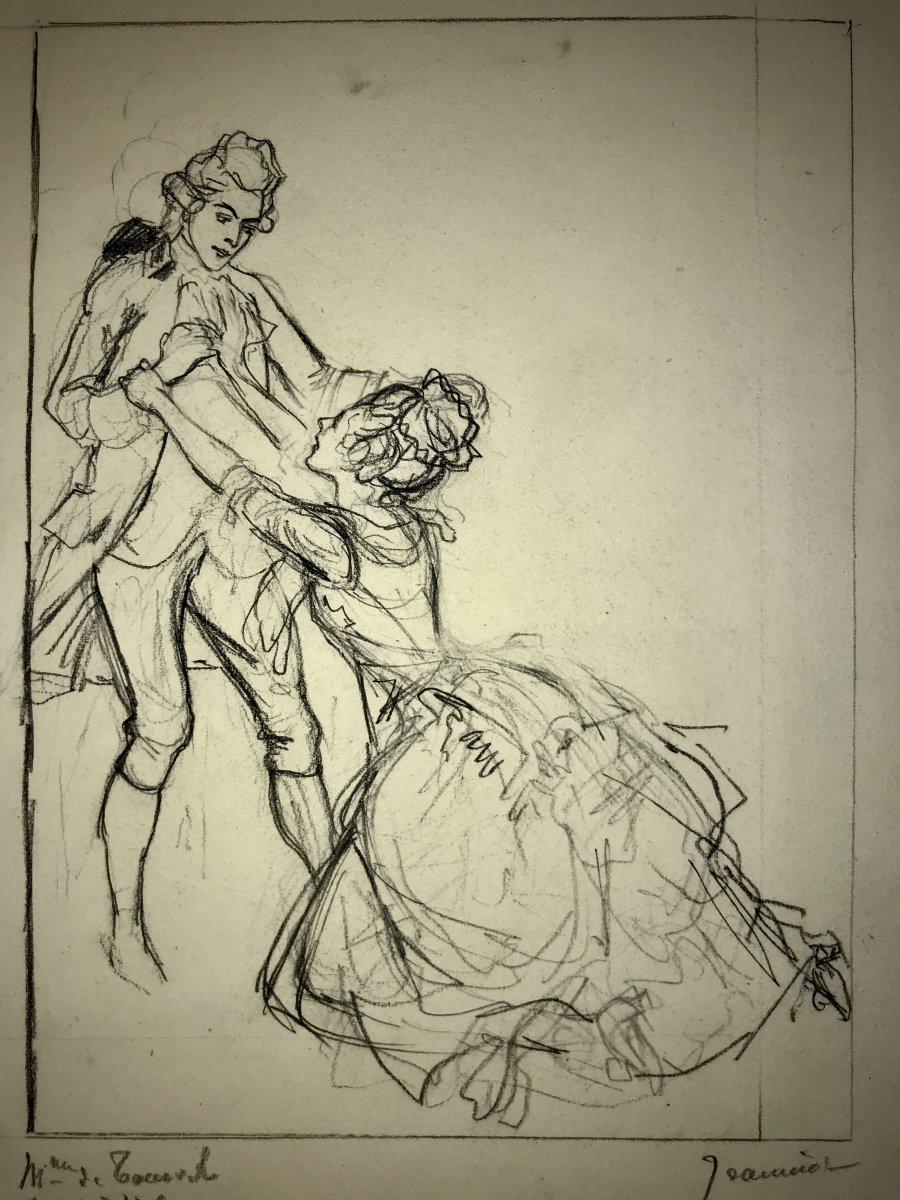 Pierre-georges Jeanniot Drawing For: Les Liaisons Dangereuses