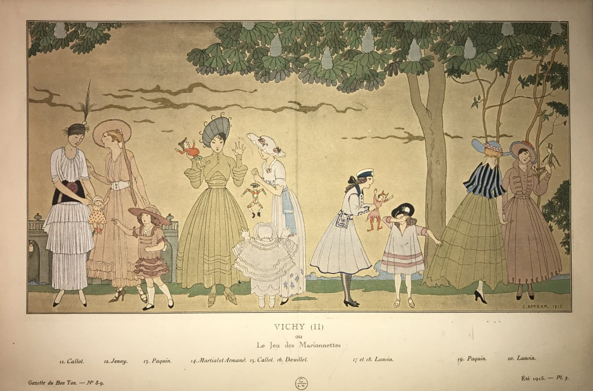Pair Of Fashion Stencils By Georges Barbier-photo-3