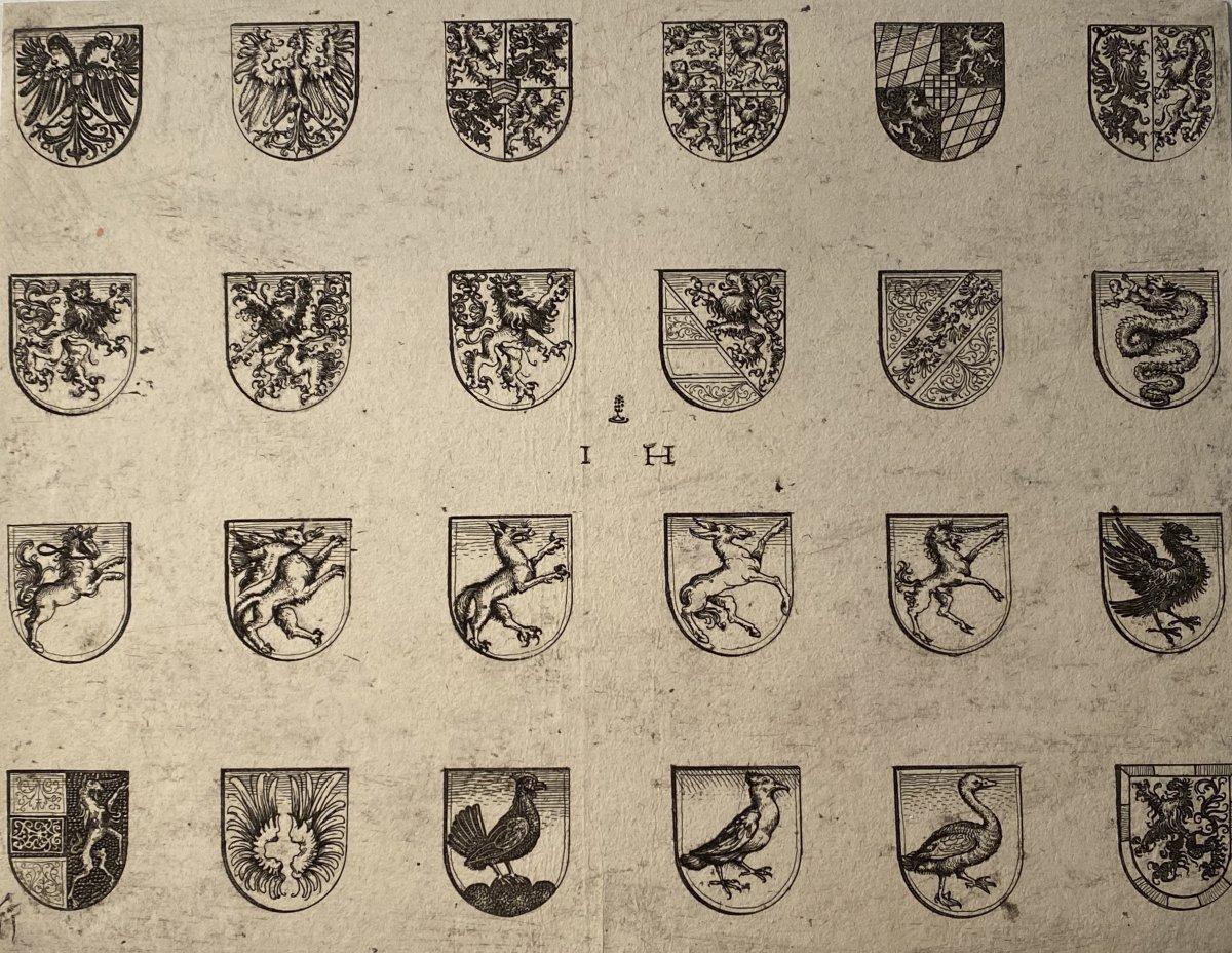 Estampe Ancienne : Blasons   Par Hieronymus Hopfer