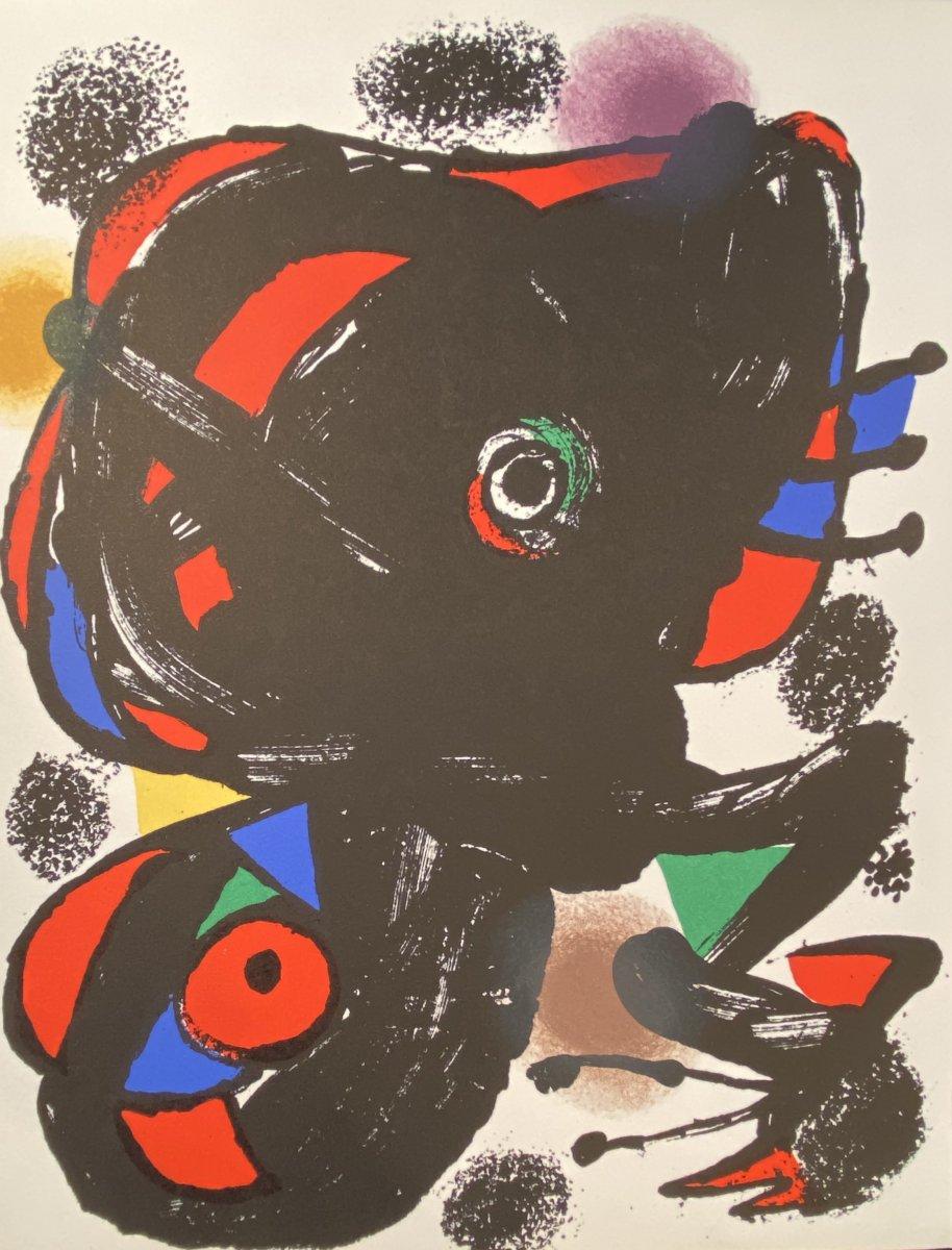 Lithographie Originale De Joan Miro