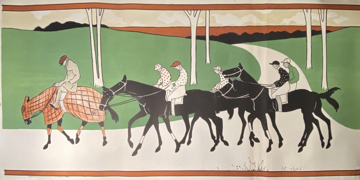Large Lithograph: The Jockeys